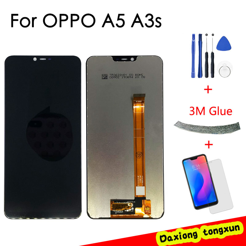 FOR OPPO A3s A5 LCD Display +Digitizer Touch Screen Frame Full Assembly