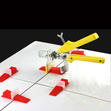 100Pcs/Set Tile Leveling System Floor Leveler Wall Tiles Paving Locator Tool Clip Spacers Pliers Alignment Tools for Floors
