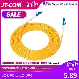 Image 1 - Cable de parche de fibra óptica monomodo LC, Cable de parche de fibra óptica LC UPC SM 2,0 o 3,0mm 9/125um FTTH, puente de fibra óptica 3m 10m 30m