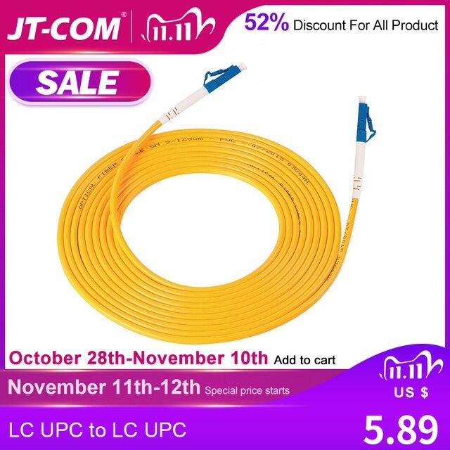 Cable de parche de fibra óptica monomodo LC, Cable de parche de fibra óptica LC UPC SM 2,0 o 3,0mm 9/125um FTTH, puente de fibra óptica 3m 10m 30m
