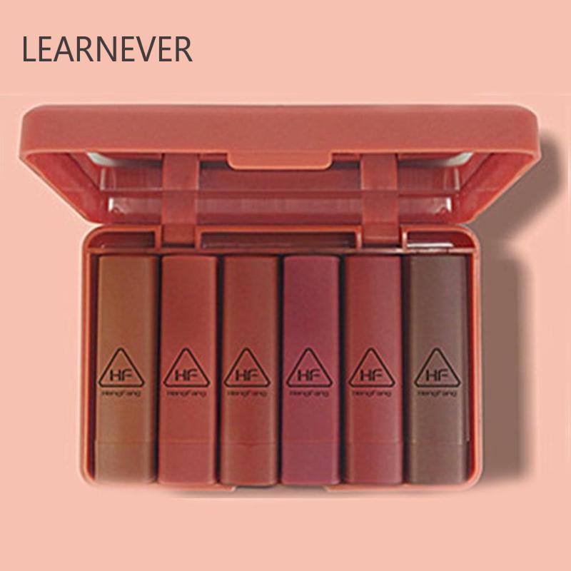 6 teile/satz Wasserdichte Langlebige Batom Lippenstift Lip Kit Samt Make-Up Set Pigment Korea Nude Matte Lippenstift Kosmetik