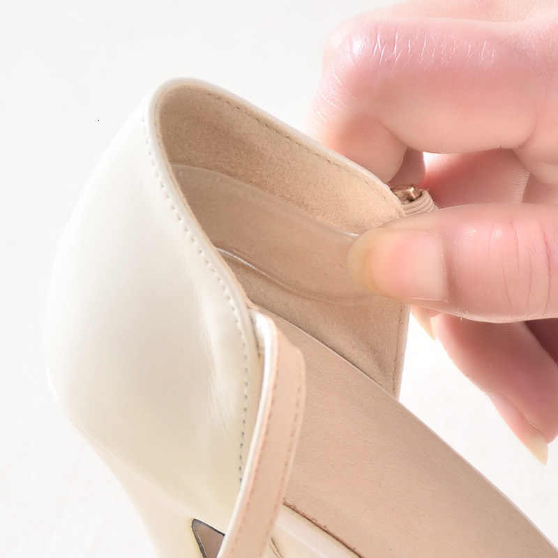 Invisible High-heeled Shoes Transparent Insole Silicone Gel Two Piece Back Heel Cushion protector Foot Insert Shoes Pad