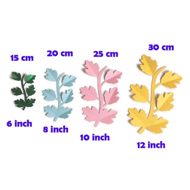 DIY flores artificiales dejar Fleurs artificiales telón de fondo a juego hojas de papel gigante boda fiesta decoración Baby Shower