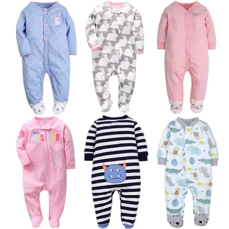 Orangemom Brand Summer Spring Baby Romper Long Sleeves 100% Cotton Baby Pajamas Cartoon Printed Newborn Baby Girls Boys Clothes