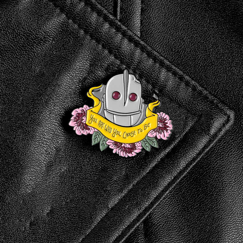 Iron GIANT Enamel PIN คุณ WHO you choose TO BE Badge