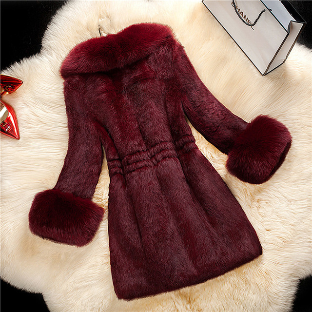 Plus Size Women Clothes S-6XL Winter Coat Office Lady Faux Fur Coat Elegant Female Outwear Slim Teddy Jacket Women Warm Coat