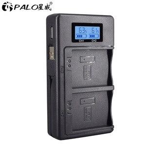 Image 1 - PALO LPE5 LP E5 LP E5แบตเตอรี่LCD Dual USB ChargerสำหรับCanon EOS 450D 500D 1000D Kiss X3 kiss F Rebel Xsiกล้อง