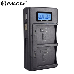 Image 1 - PALO LPE5 LP E5 LP E5 chargeur de batterie LCD double fente USB chargeur pour Canon EOS 450D 500D 1000D baiser X3 baiser F rebelle Xsi caméra