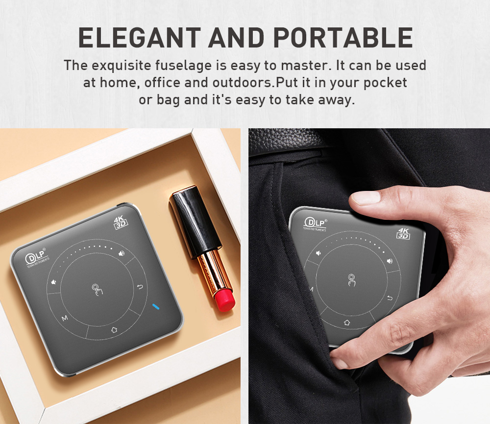 Image 5 - Vivicine P11 Newest Smart Pocket Mobile 3D Mini Projector,Support Miracast Airplay Wifi Home Video Projector Beamer    -