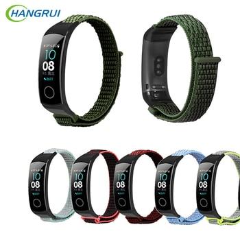 Hangrui-pulsera para Huawei Honor Band 5, correa duradera de nailon suave para reloj inteligente Honor Band 5, correa para pulsera inteligente