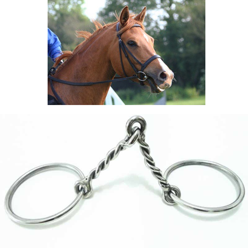 125mm Horse Bit Full Cheek Stainless Steel Snaffle Paarden Mouthpiece Horse Riding Equipment Caballos Accesorios Race Equestrian