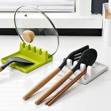 Łyżka kuchenna widelec łopatka stojak półka organizator plastikowa łyżka reszta stojak na pałeczki antypoślizgowe łyżki Pad naczynie kuchenne tanie tanio CN (pochodzenie) Z tworzywa sztucznego Green White Grey 12 7x14cm Heat Resistant Rack Kitchen Cooking Tools Kitchen Organizer