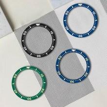 Inserção de moldura cerâmica para 38mm relógio masculino noctilucent relógios substituir acessórios relógio rosto bezel inserções diferentes modelos