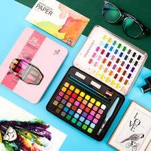 Juego de pintura de acuarela sólida profesional Superior, 36/48 colores, lápiz de pincel de agua, lápiz de acuarela, pintura con pigmentos