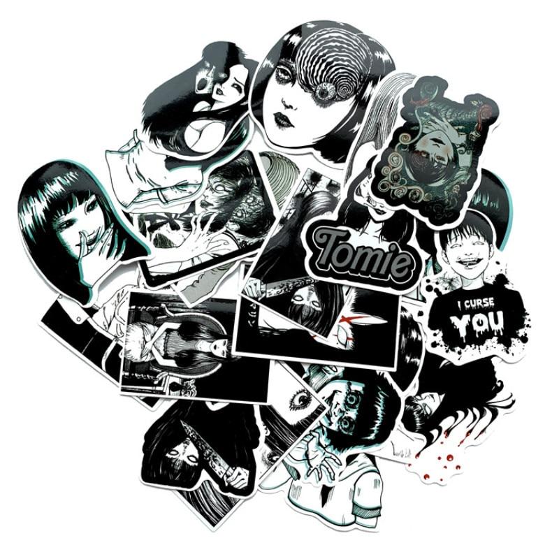 Horror Anime Stickers Scrapbook Suitcase Skateboard Laptop Luggage Graffiti Funny Cool Decoration Waterproof Sticker Pack 21PCS