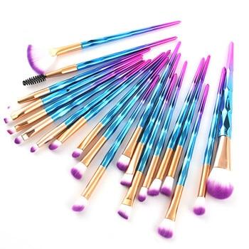 цена на Professional Makeup Brushes Set Face Foundation Brush Eye Eyeshadow Fan Lip Eyebrow Eyeliner Eyelash Crystal Make Up Brush Kit