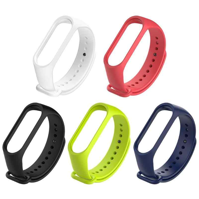 Cinghia Da Polso in silicone di Ricambio per mi fascia 4 3 cinghia Xiao Mi accessorio smartband Braccialetto Per Mi fascia 3 cinghia blu scuro