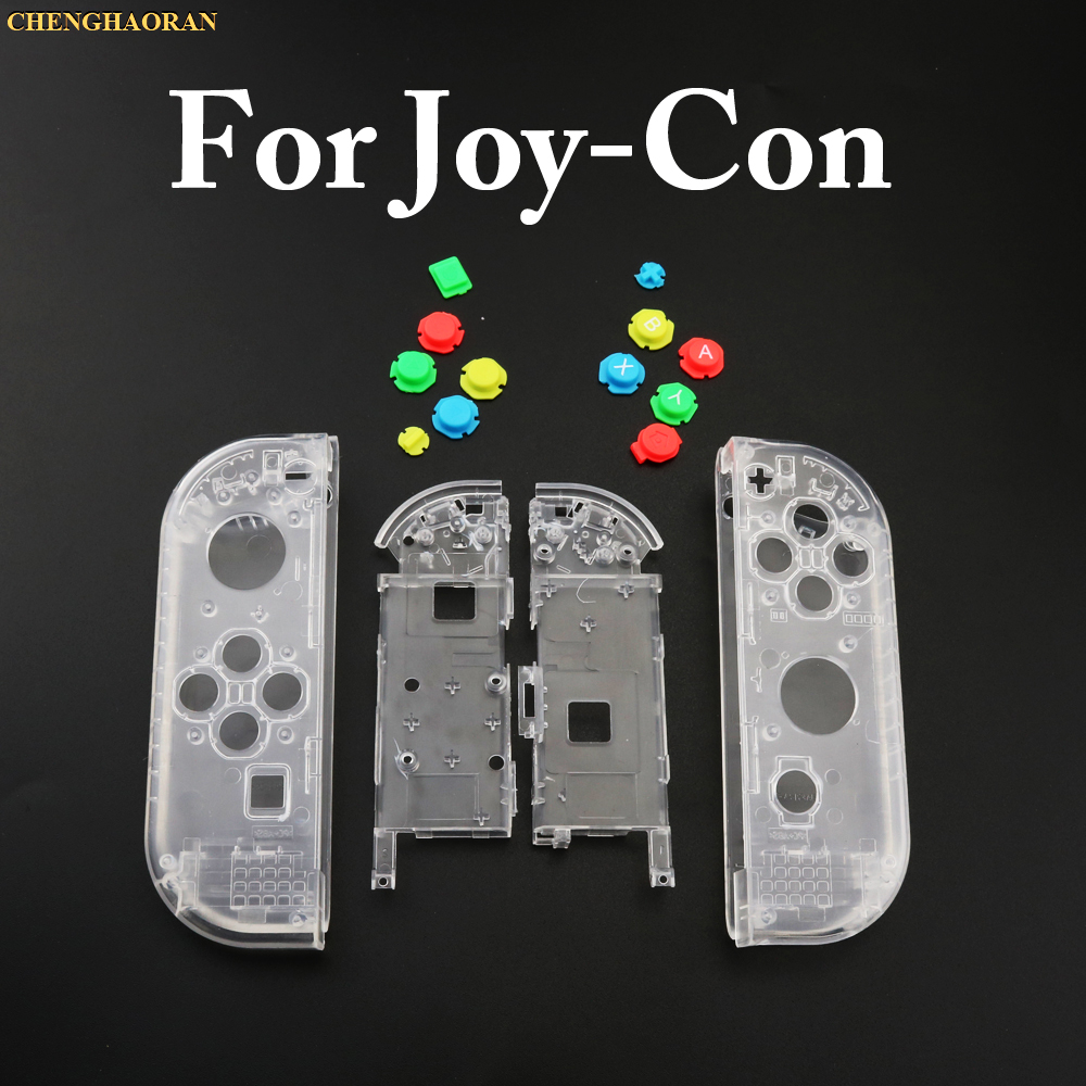 Clear Green 1set Housing Hard Shell Skin Case Replacement For Nintend Switch NS Joy-Con Controller Faceplate Cove