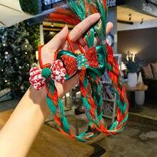 Рождественские подарки заколка для волос Набор девочек Санта