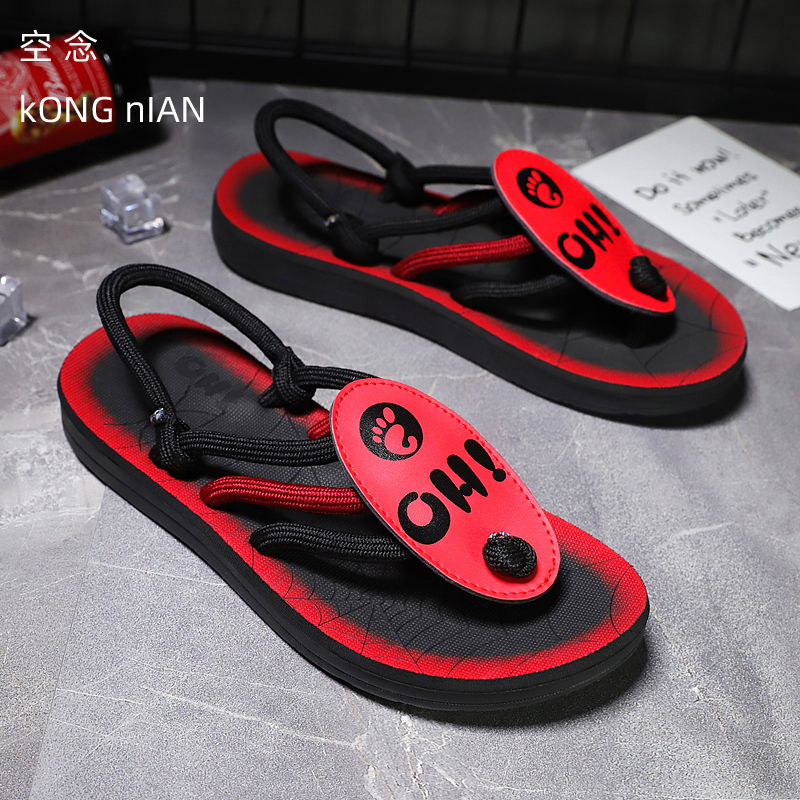 2020 Casual Slippers Men Summer Flip Flops Shoes Outdoor Slippers Fashion Men Beach Swimming Pool Slippers Red Non-slip Slippers
