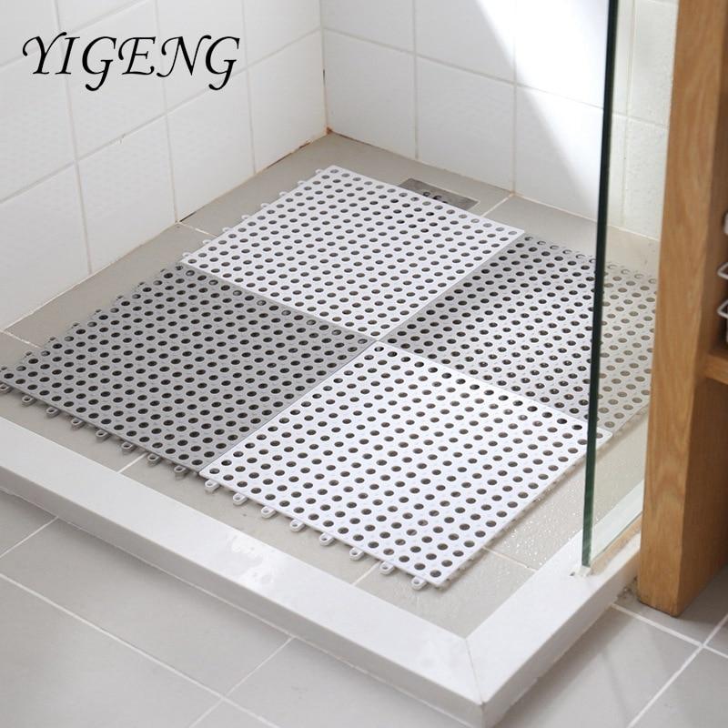 1pc Bathroom Carpet Shower Mat Non-slip Bath Mats Bathroom Square PVC Bathmats for Home Kitchen Floor Mats For Toilet Bath Rug