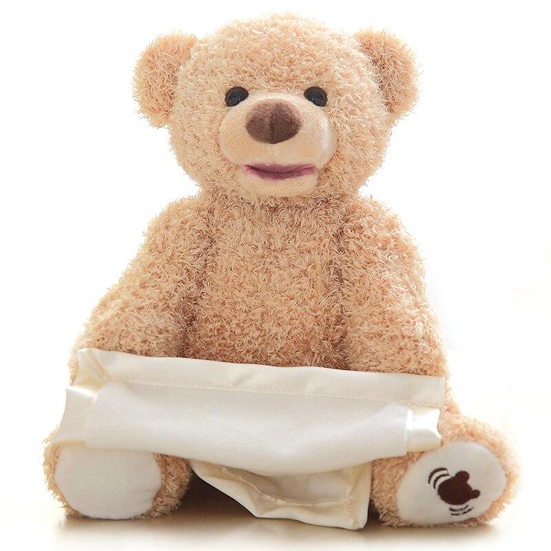 Милые Peek a Boo медведь скрыть играть искать игрушку чучело говоря застенчивый медведь электрический ток оригинальные небольшие медведь 33 см, ...
