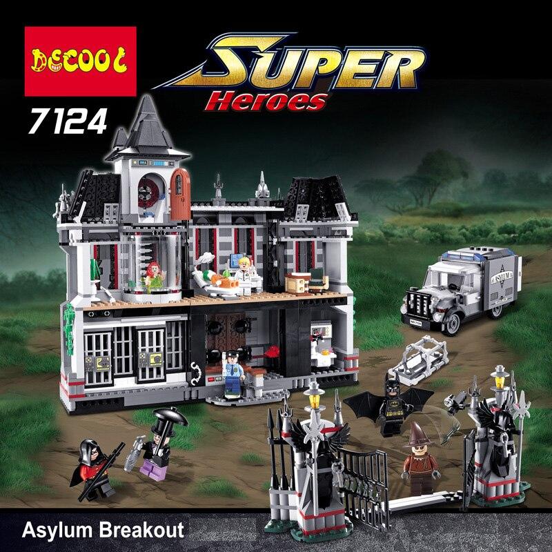 Boy Girl Friends Batman Arkham Asylum Breakout Super Heroes DC Super Hero Building Bricks Blocks Toys Compatible With 10937