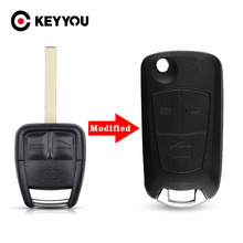 KEYYOU Replacement Modified Flip Remote Key Shell Case Folding Car Key Cover For Opel