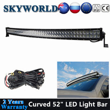 цена на SKYWORLD 52 Inch Curved LED Work Light Bar 4x4 ATV LED Bar For Car Off Road 4WD SUV Truck Dual Row Driving Lamp Offroad