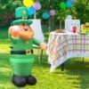 Saint Patrick's Day Inflatable Luminous Inflatable Model Blow Up Leprechaun Irish Oktoberfest Luckly Clover Garden Decoration 2