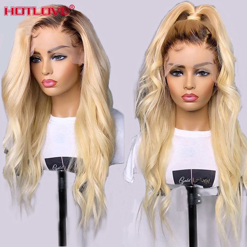 1B/613 Blonde Lace Front Human Hair Wigs With Baby Hair 150% Density Brazilian Body Wave Hair 13x4 Lace Front Wigs Remy Hair Wig
