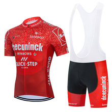2021QUICK STEP Cycling Team Jersey 20D Bike Short Set Ropa Ciclismo Mens Cycling Clothing Kit Summer Pro Bicycle Maillot Culotte