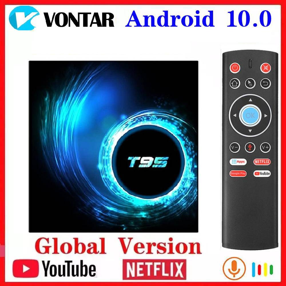 Vontar <font><b>T95</b></font> <font><b>TV</b></font> <font><b>Box</b></font> Android 10 Allwinner H616 Quad Core 6K Wifi Android 4GB RAM 64GB ROM 10.0 Media Player Youtube Set Top <font><b>Box</b></font> image