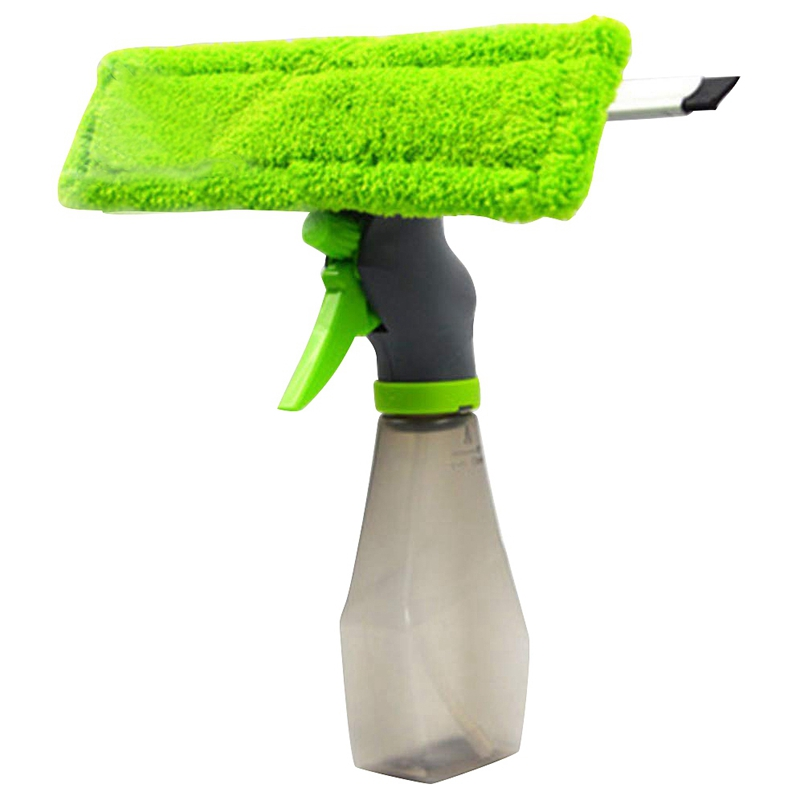Car Wiper, 3 In 1 Double-Sided Water Spray Glass Cleaner Car Wash Wiper, Window Cleaner Spray Bottle Wiper Squeegee Microfibre C