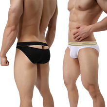 Hollow Out Back Underwear Man Sexy New Men Briefs Gay Cotton Men's Panties Breathable Mens Underpants Low Waist Fashion OR6106