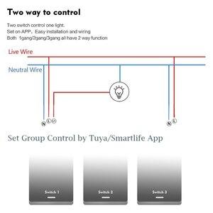 Image 4 - Wifi חכם אור מתג אלחוטי קיר זכוכית מסך מגע פנל 2 במקביל דרך קול שלט רחוק על ידי Alexa הד דוט google בית