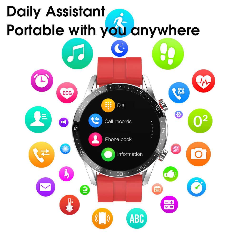 LEMDIOE ECG montre intelligente 2020 hommes IP68 étanche Bluetooth appel fréquence cardiaque GT 2 GTR Smartwatch pour Huawei Xiaomi IOS téléphone