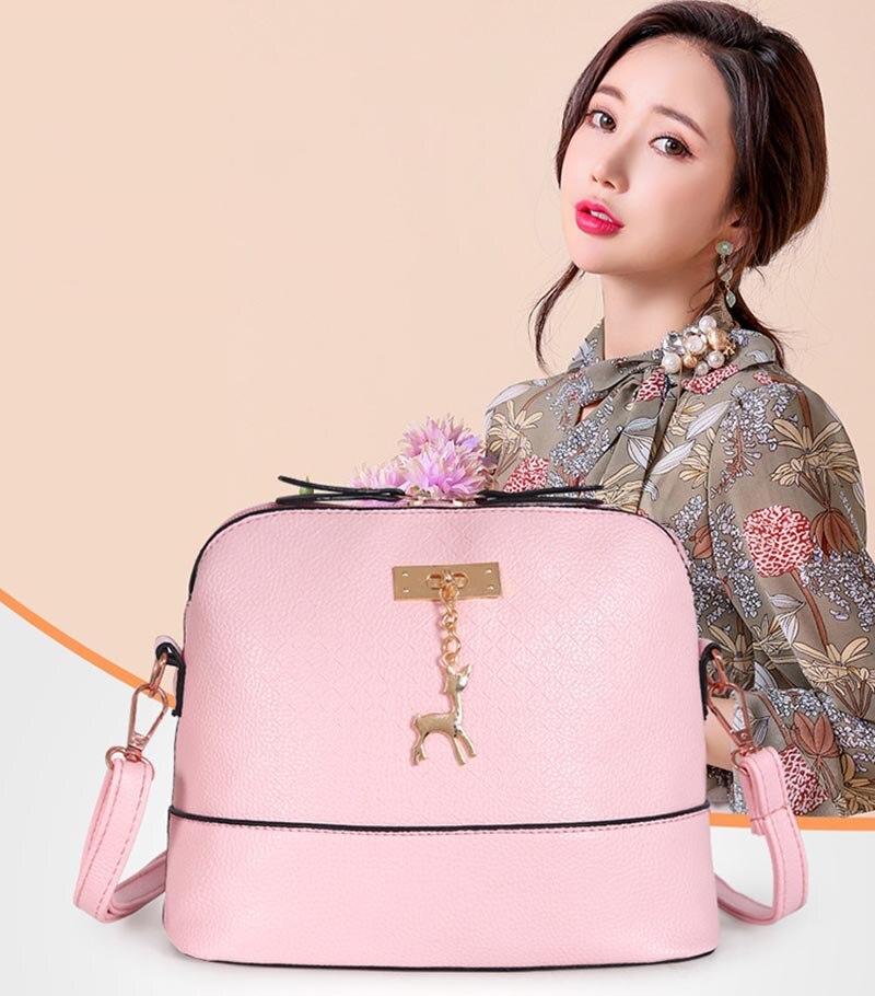 PU Leather Women Shoulder Bag Female Purse deer pendant Handbags Girl  Mini Crossbody Bag Vintage Small Mini Flap Bolsos 2