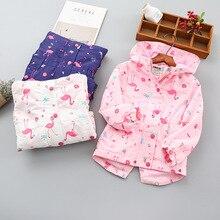 Mode imperméable à capuche impression enfant manteau chaud polaire bébé filles vestes vêtements dextérieur pour enfants enfants tenues pour lautomne 90 150cm