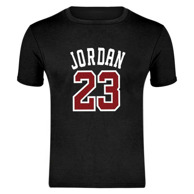 Estampado de manga corta camiseta diseño jordan hombre