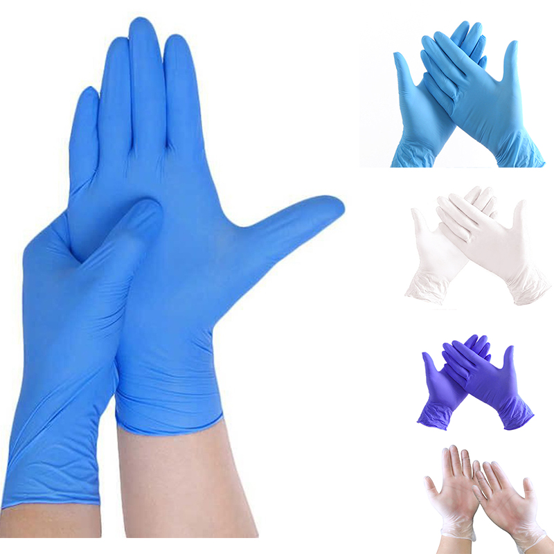 Nitrile Gloves 100Pcs Disposable Rubber Gloves Waterproof Puncture-proof Glove For Home Labor Safety Gloves Rękawiczki Nitrylowe