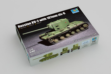 цена на Trumpeter 1/72 07162 Russian KV-2 with 107mm Zis-6 Tank Military Display Toy Plastic Assembly Building Model Kit