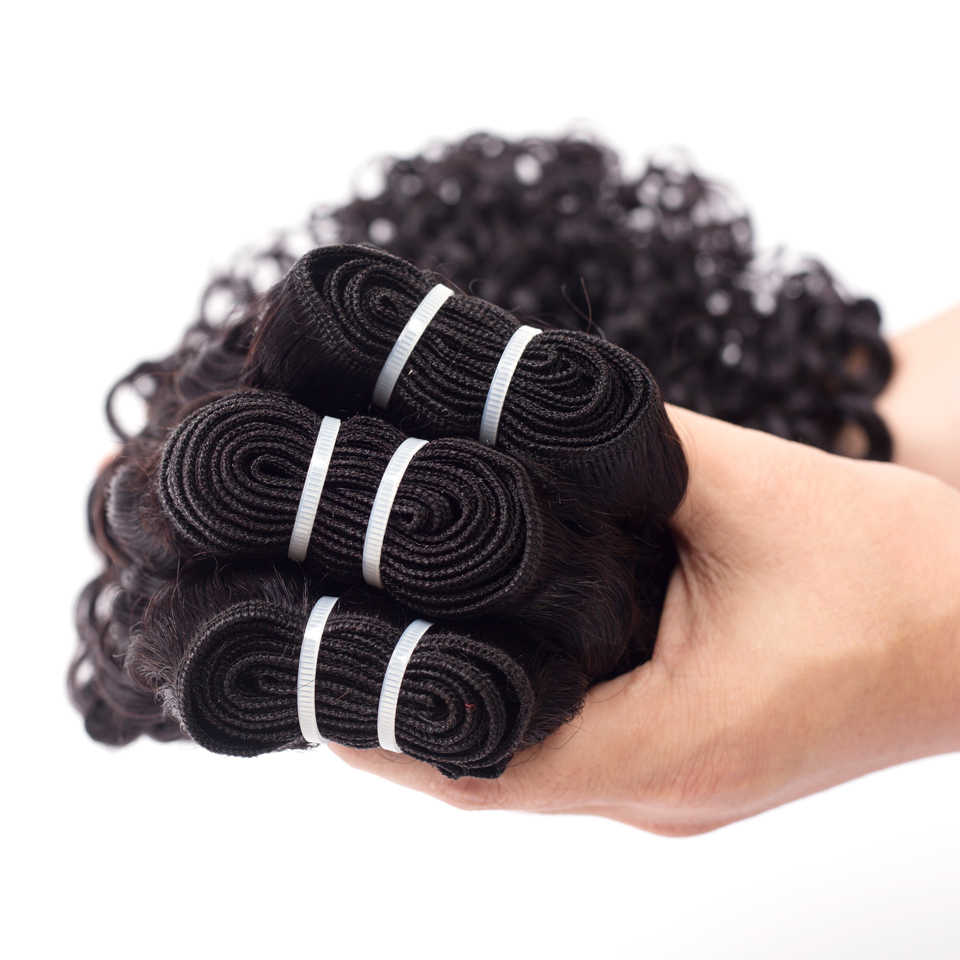 Beleza graça onda de água 1 ou 4 pacotes de cabelo humano pacotes ofertas não remy extensões do cabelo peruano brasileiro tecer pacotes