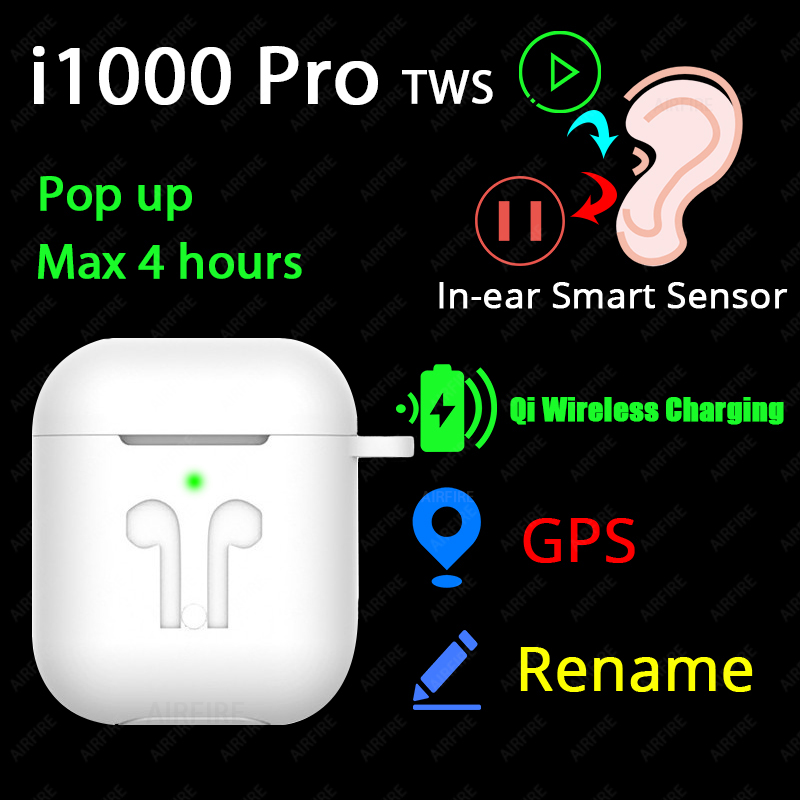 <font><b>Original</b></font> i1000 Pro <font><b>TWS</b></font> 1:1 In-ear Blutooth Earphone Mini Wireless Earbud H1 Aire2 Headphone Headset PK W1 Chip elari Aire 2 3 image
