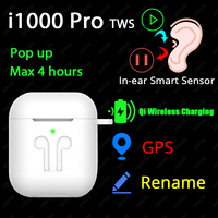 Original i1000 Pro TWS 1:1 In ear Blutooth Earphone Mini Wireless Earbud H1 Aire2 Headphone Headset PK W1 Chip elari Aire 2 3