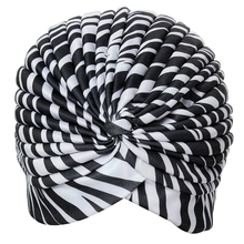 Bonnet Hat Turban pleated Wrap Head Indian Scarf extensible fabric for woman