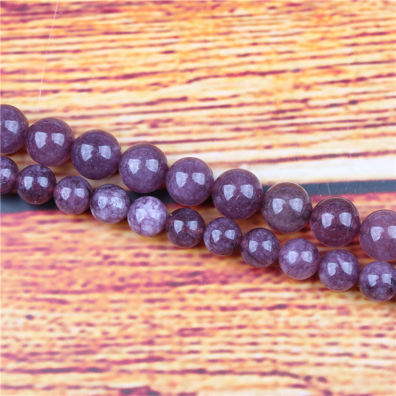 Mica Natural Stone Bead Round Loose Spaced Beads 15 Inch Strand 4/6/8 / 10mm For Jewelry Making DIY Bracelet Necklace