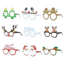 Photobooth-Props Paper-Frame-Glasses Party-Supplies 9pcs No Xmas Merry Festive Deer Santa-Snowman
