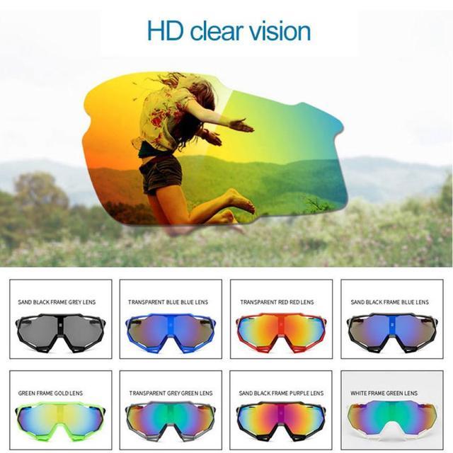Prova e computador à prova de explosão profissional polarizado óculos de ciclismo óculos de bicicleta esportes ao ar livre óculos de sol uv 2