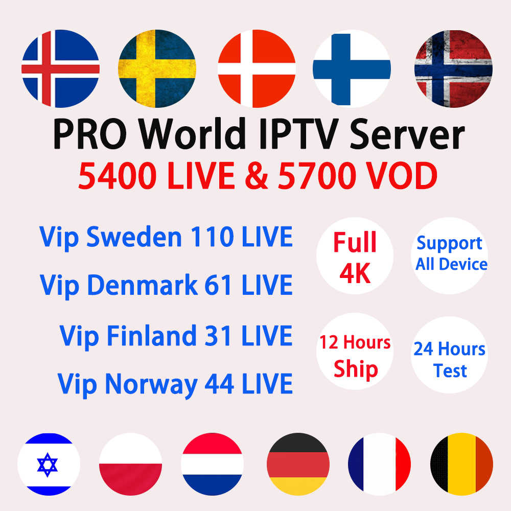 European IPTV Full HD Free Test Adult Subscription 9000+